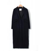 CINOH(チノ)の古着「カシミヤロングチェスターコート」|ネイビー
