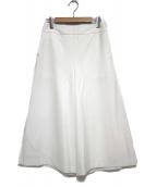 TOMORROW LAND(トゥモローランド)の古着「ポリエステルレーヨンワイドパンツ パンツ」