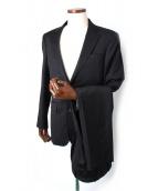 TAKEO KIKUCHI(タケオキクチ)の古着「シャドウストライプ2Bスーツ」|ブラック