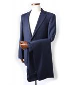 TAKEO KIKUCHI(タケオキクチ)の古着「オルタネイトストライプ2Bスーツ」|ネイビー