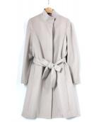 LAUTRE AMONT(ロートレアモン)の古着「ビーバーメルトンスタンドコート」|ベージュ