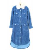 GRACE CONTINENTAL(グレースコンチネンタル)の古着「インディゴコールシャツカーディガン」|ブルー