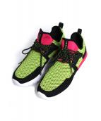 CU4TRO(クワトロ)の古着「Bolt Lima & Magenta Knit Shoes」|マルチカラー