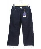 SIMON MILLER(サイモン ミラー)の古着「カットオフデニムパンツ」|ネイビー