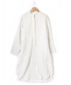 seya(セヤ)の古着「リネンストライプワンピース」|ホワイト