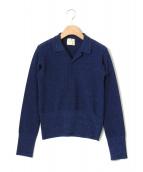 JUN MIKAMI(ジュンミカミ)の古着「ラメ鹿の子ニット」|ブルー