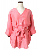 FUMIKA UCHIDA(フミカ ウチダ)の古着「シルクブラウス」|ピンク
