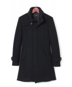 AKM(エーケーエム)の古着「STAND ROPE COAT DOUBLE BEAVER」|ブラック