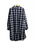 RINEN(リネン)の古着「シャツワンピース」|ブルー