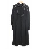 CELFORD(セルフォード)の古着「サテンシャツワンピース」|ブラック