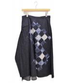 YohjiYamamoto+Noir(ヨウジヤマモト プリュス ノアール)の古着「デニムフレアスカート」