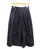Y's(ワイズ)の古着「フラワープリントギャザースカート」|ネイビー