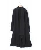 yohji yamamoto+Noir(ヨウジヤマモト プリュス ノアール)の古着「ロングオープンコート/カーディガン」|ブラック