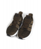 adidas(アディダス)の古着「ランニングスニーカー」|オリーブ