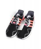 adidas(アディダス)の古着「ランニングスニーカー」|ブラック×ピンク
