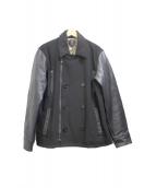 collars(カラーズ)の古着「レザー切替ジャケット」|ブラック