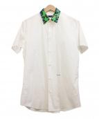 DSQUARED2(ディースクエアード)の古着「襟レオパードS/Sシャツ」|ホワイト