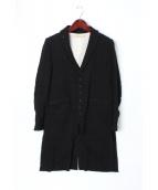 SUZUKI TAKAYUKI(スズキ タカユキ)の古着「ロングジャケット」|ブラック
