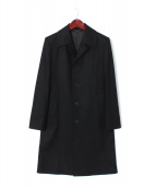JOHN LAWRENCE SULLIVAN(ジョン ローレンス サリバン)の古着「FLANNEL BAL COLLAR COAT」|ブラック