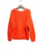 ROPE mademoiselle(ロペマドモアゼル)の古着「ローピングハンドニット」|オレンジ