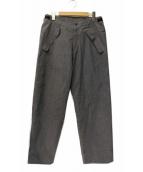 DESCENTE PAUSE(デサントポーズ)の古着「シームテープワイドパンツ」|グレー