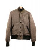 AWAKE NY×GBSPORTS(アウェイク)の古着「グレンチェックツィードジャケット」|ブラウン