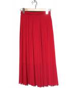 Paul Smith(ポールスミス)の古着「ソリッドジョーゼットプリーツスカート」|ピンク