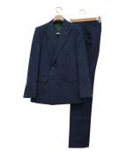 HUSBANDS(ハズバンズ)の古着「ダブルブレストセットアップスーツ」|ネイビー