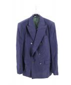 HUSBANDS(ハズバンズ)の古着「ダブルウールジャケット」|ネイビー