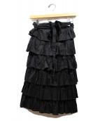 tricot COMME des GARCONS(トリココムデギャルソン)の古着「ティアードスカート」|ブラック