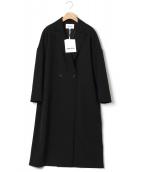 ENFOLD(エンフォルド)の古着「BOXシルエットテーラーコート」|ブラック