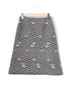 mina perhonen(ミナペルホネン)の古着「Pacific刺繍スカート」|グレー