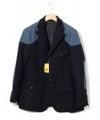BARON VIENTO(バロン ヴィエント)の古着「ハリスツィードハンティングジャケット」|ネイビー
