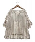 23区 × LIBECO(23区 × リベコ)の古着「リネンスキッパーチュニック」|アイボリー