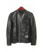 SHELLAC(シェラック)の古着「異素材ライダースジャケット」