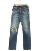 Hysteric Glamour(ヒステリックグラマー)の古着「CN加工デニムパンツ」|インディゴ