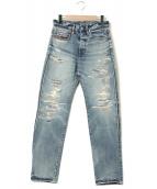Hysteric Glamour(ヒステリックグラマー)の古着「SOR加工デニムパンツ」|インディゴ