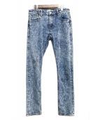 GUESS JEANS(ゲス ジーンズ)の古着「ケミカルスキニーデニムパンツ」|ブルー