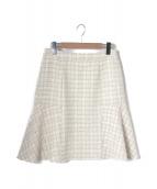 MISS J(ミスジェイ)の古着「ラメツイードスカート」|オフホワイト