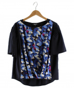 SONIA RYKIEL(ソニア リキエル)の古着「ソレイヤードブラウス」|ブラック