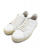 OFF WHITE(オフホワイト)の古着「PERF STRIPE SNEAKER」|ホワイト