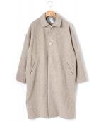 Dulcamara(ドゥルカマラ)の古着「ウールモッサービッグコート」|ベージュ