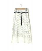 FURFUR(ファーファー)の古着「オパールドットスカート」|ホワイト