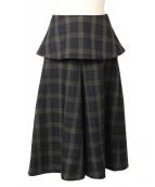ADORE(アドーア)の古着「ドライツイストチェックフレアスカート」
