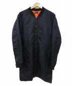 Danke schon(ダンケシェーン)の古着「ロングMA-1ジャケット」|ブラック