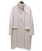 ROPE mademoiselle(ロペマドモアゼル)の古着「ウールカシミヤスタンドカラーコート」|ベージュ