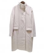 ROPE mademoiselle(ロペマドモアゼル)の古着「ウールカシミヤスタンドカラーコート」 ベージュ