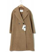 KETTY CHERIE(ケティ シェリー)の古着「シャギービッグカラーチェスターコート」|キャメル