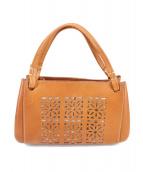 genten(ゲンテン)の古着「カットワークトートバッグ」|ブラウン