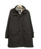 BURBERRY LONDON(バーバリーロンドン)の古着「ダウンライナー付スタンドカラージップアップコート」 ブラック